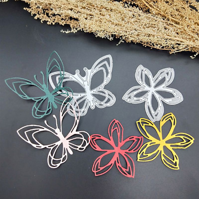 Butterfly Flower Metal Cutting Dies Stencil  Embossing Decor Frame Card Craft