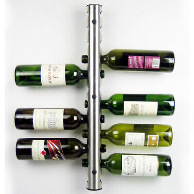 Stainless Steel 12 Hole Bottle Wall Mounted Kitchen Bar Wine Rack Holder Stand