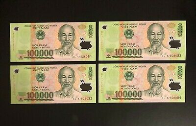 = 500,000 Dong Currency VND UNCIRCULATED UNC Vietnam 100,000 X 5 Pieces PCS