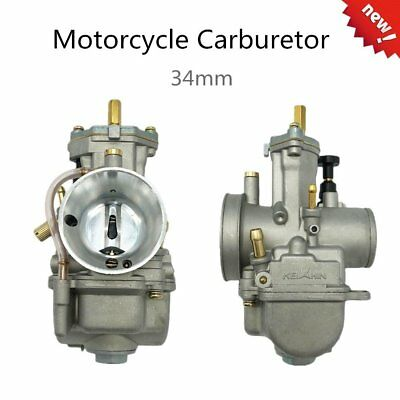 Universal Motorcycle Carburetor For Keihin Carb PWK Mikuni With Power Jet 34mmL2