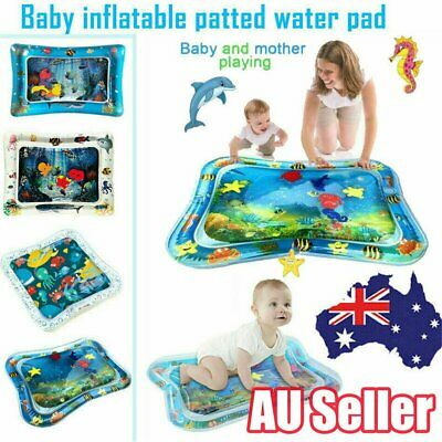 Baby Water Play Mat Inflatable For Infants Toddlers Fun Tummy Time Sea World AUB