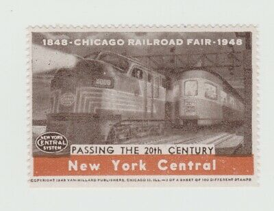 US- 1948 Chicago Railroad Fair, New York Central- Passing the 20th Century poste