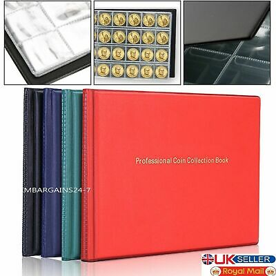 New Collection Storage Money Penny Album Book 240 Holders Pocket Case Coin Coins