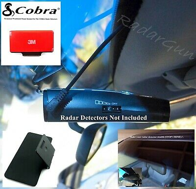 * NEW COBRA RADAR DETECTORS Permanent Windshield Mount Good For Most Models *