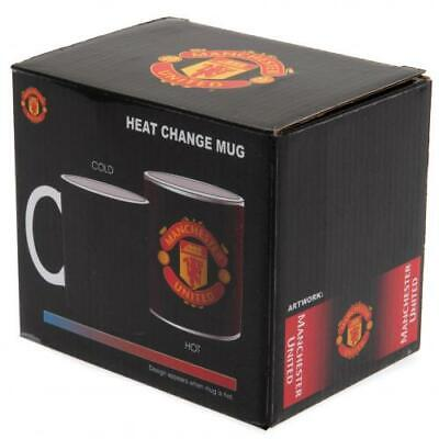 Manchester United FC Gradient Heat Changing Ceramic Tea Coffee Mug Xmas Gift New