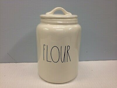 New Rae Dunn FLOUR Canister LL Large Letter Farmhouse Artisan Collection Magenta