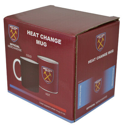 West Ham United FC Gradient Heat Changing Ceramic Tea Coffee Mug Xmas Gift New