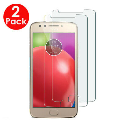 2X Pack Protective Tempered Glass Screen Protector - For MOTOROLA MOTO E4 PLUS