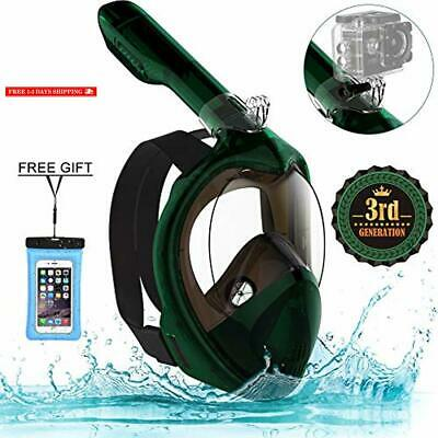 f292b4aa7 Poppin Kicks Full Face Snorkel Mask for Adult Youth and Kids