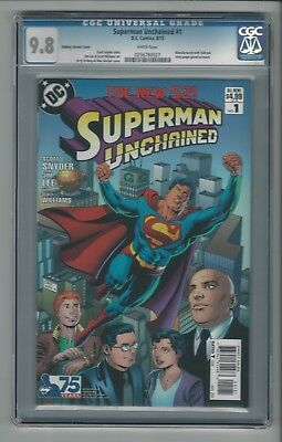 Superman Unchained #1 CGC 9.8 NM/M Ordway Variant Cover DC Comics New 52 8/13
