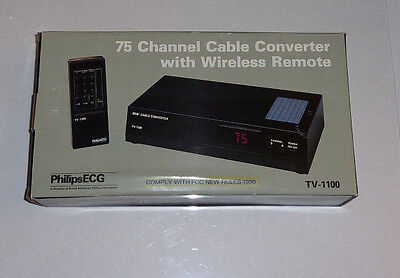 PHILIPS ECG 75 Channel Cable Converter w/ Wireless Remote TV-1100