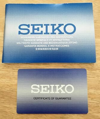 10 x Seiko original watch instruction booklet with warranty card. Multi-lingual.