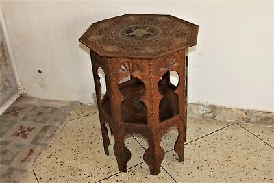 Side table, pedestal table oriental, table tea early XX th