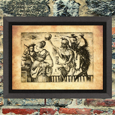 Demon Oddity Occult Witch Art Print  Antique Effect Paper Curio Buy 2 Get 1 Free
