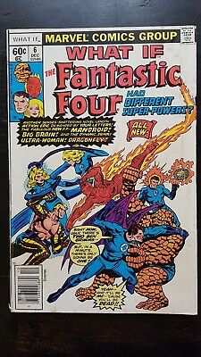 What If (vol 1) 6 The Fantastic Four had Different Super Powers (1977 Marvel)
