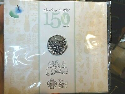 Royal Mint 2016 Beatrix Potter 150 Years 50p BUNC Sealed Coin Pack