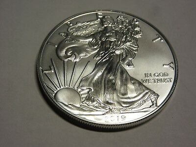 2019 .999 Pure  Silver American Eagle 1 Oz. Pristine  Brilliant Uncirculated