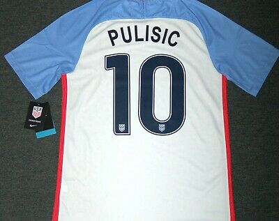 23f6c15ab Nike Men's PULISIC USA Home Soccer Jersey, 724643 100, White, US Sizes