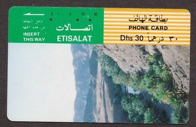 UAE United Arab Emirates Phone Card - 30 Dhs - Tamura - 1992 Etisalat