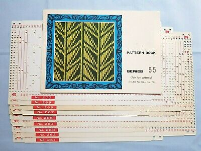 Pc214 Brother Knitting Machine Patterns Punch Cards Series 55 261-270 Fair Isle