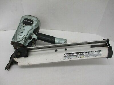 Hitachi 2 in. to 3-1/2 in. Collated Framing Nailer NR90AES1