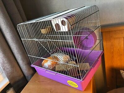 Large Hamster Cage Starter Kit + Ball. Suitable for any small animal.Mouse - Rat