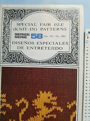 Pc215 Brother Knitting Machine Patterns Punch Cards Series 58 291-300 Fair Isle
