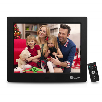 Arzopa 8 inch Digital Photo Frame,4:3 HD Picture Video1080P Frame with MP3 Alarm