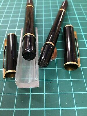 Set Waterman Laureat Negro Pluma + Rollerball Pen