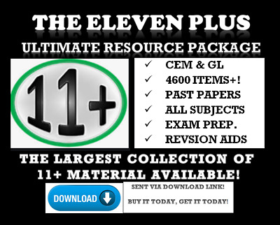 11 Plus Eleven + 1450 Exam Test Papers All Subjects Gl Cem Bond  *download Link*