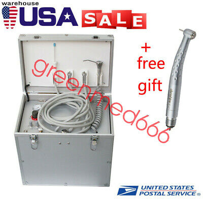 2019 Portable Dental Turbine Unit/Air Compressor/Suction System/with  handpiece