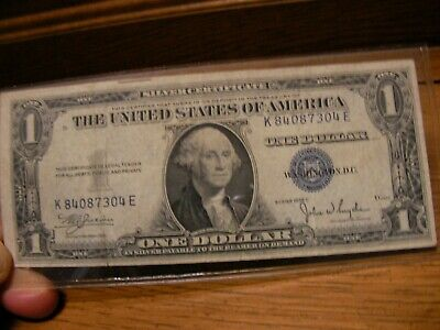 1935 C - ONE DOLLAR SILVER CERTIFICATE W/BLUE SEAL, CIRCULATED  Nice
