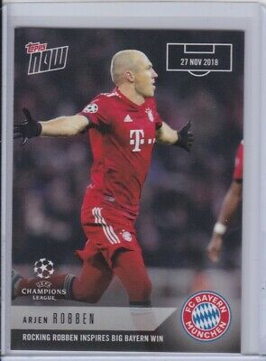2018-19 Topps NOW UEFA UCL Champions League 15 Arjen Robben FC Bayern Munchen
