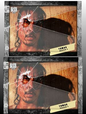 2x SHATTERED MARATHON SLATE TOMAS Walking Dead Card Trader Digital Cards