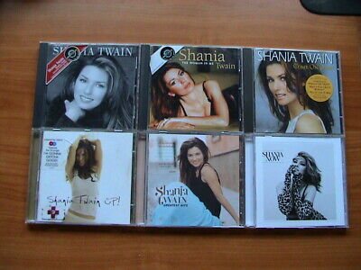 Shania Twain - (same) + The woman in me +Come on over + Up + Now + Greatest Hits