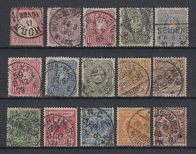 Germany 1872-1900 Early Stamps Used Hinged No Gum