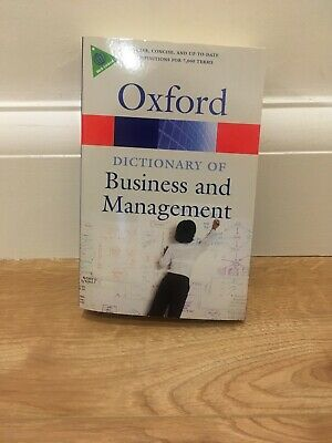 A Dictionary of Business and Management by Oxford University Press 5th Edition