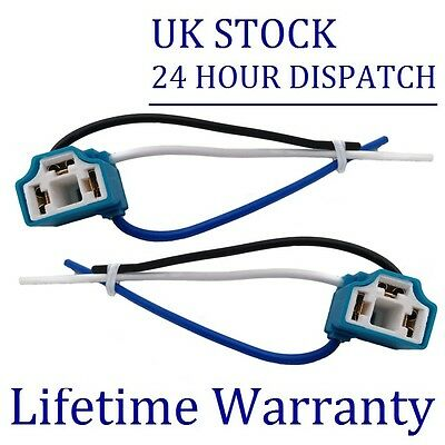 2X FOR NISSAN MICRA NOTE H4 CERAMIC BULB HOLDER UPGRADE 100W BH4Ax2