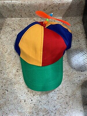 a1a619e362cbb Adult Propeller Beanie Hat Clown Costume Baseball Copter Helicopter Ball Cap