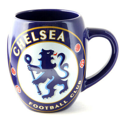 Chelsea FC Ceramic Tea Tub Mug Cup Coffee In A Clear Acetate Gift Pack New Xmas