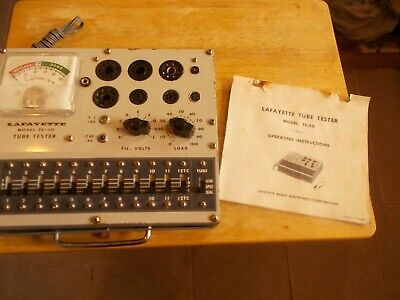 Vintage Lafayette Tube Tester Model TE-50 With Original Operating Instructions