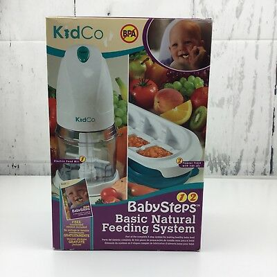 Kidco Baby Steps Basic Natural Feeding System Electric Food Mill Freezer Trays