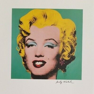 ANDY WARHOL + Marilyn Monroe Hand Signed Vintage Print from 1986