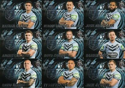2019 Nrl Traders State Of Origin Stars Trading Cards - Nsw & Qld Full Set Of 45