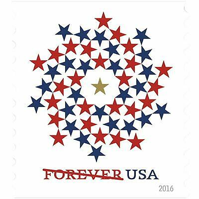 USPS Forever Stamps - Patriotic Spiral - 10,000 Units - 1,000 Books of 10 Stamps