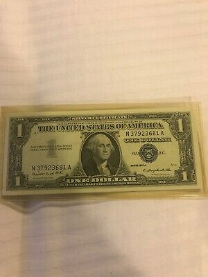 10 Crisp 1957 A US One Dollar $1 Consecutive Serial Number Silver Certificates
