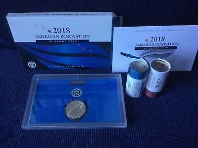 2018 PDS 3 coin American Innovation $1 Dollar Coin Set (proof in mint packaging