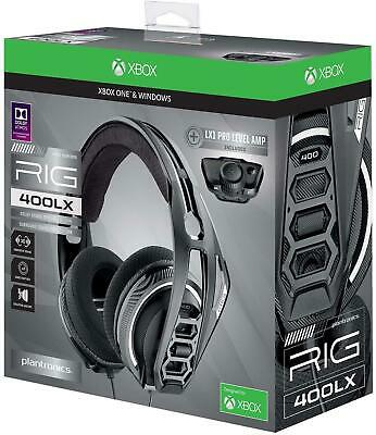 Plantronics 400LX Gaming Headphones Headset For Xbox One X S LX1 Adapter & Mic