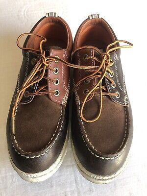 40cfdbe7aa2981 PF Flyers Foundation Collection Mens 7 Womens 8.5 Brown Leather Oxford  Sneakers