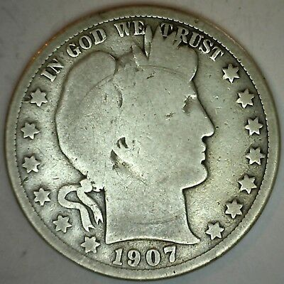1907 O Barber Silver Half Dollar 50 Cent US Type Coin Good K53
